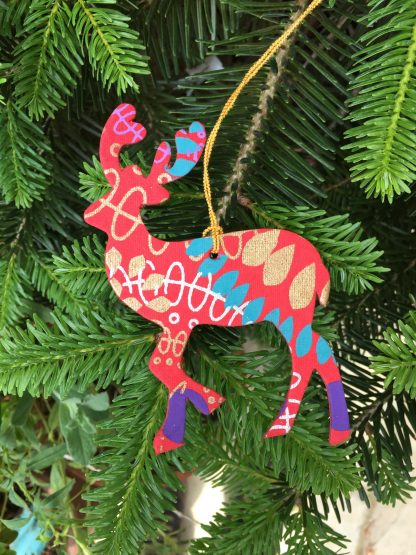 Plastic Free Party Bags Christmas Decoration Reindeer