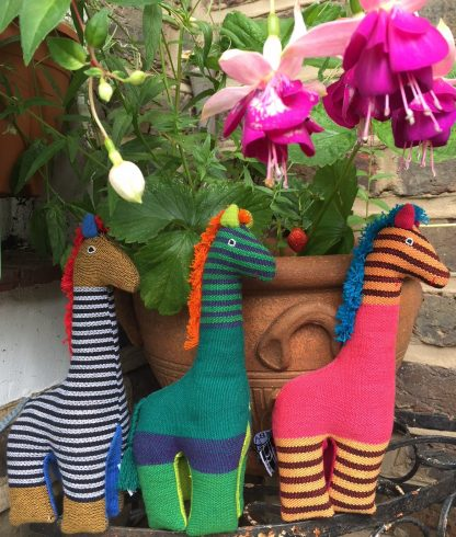 Fairtrade cotton and kapok giraffe toy