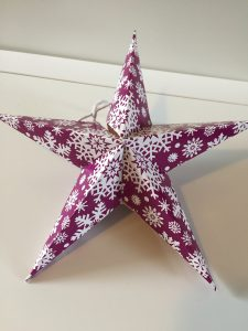 Plastic Free Party Bags Christmas Star Hanging Decoration