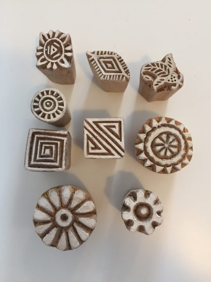 handcarved fairtrade ink stamps plastic free party bags