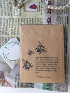 plastic free party bags seeds for bees