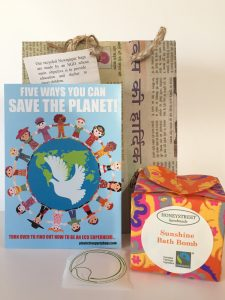 plastic free party bags bath bomb
