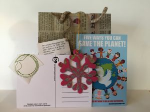 christmas plastic free party bag