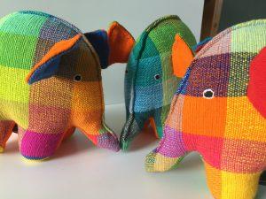 fairtrade elephant toy kapok