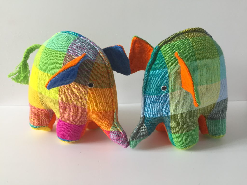 fairtrade kapok elephant toy
