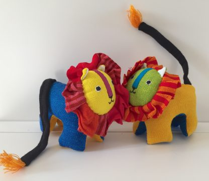 fairtrade plastic free lion toy