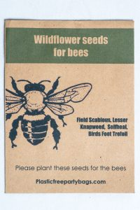 seeds for the bees recycled packets