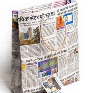 newspaper party bag