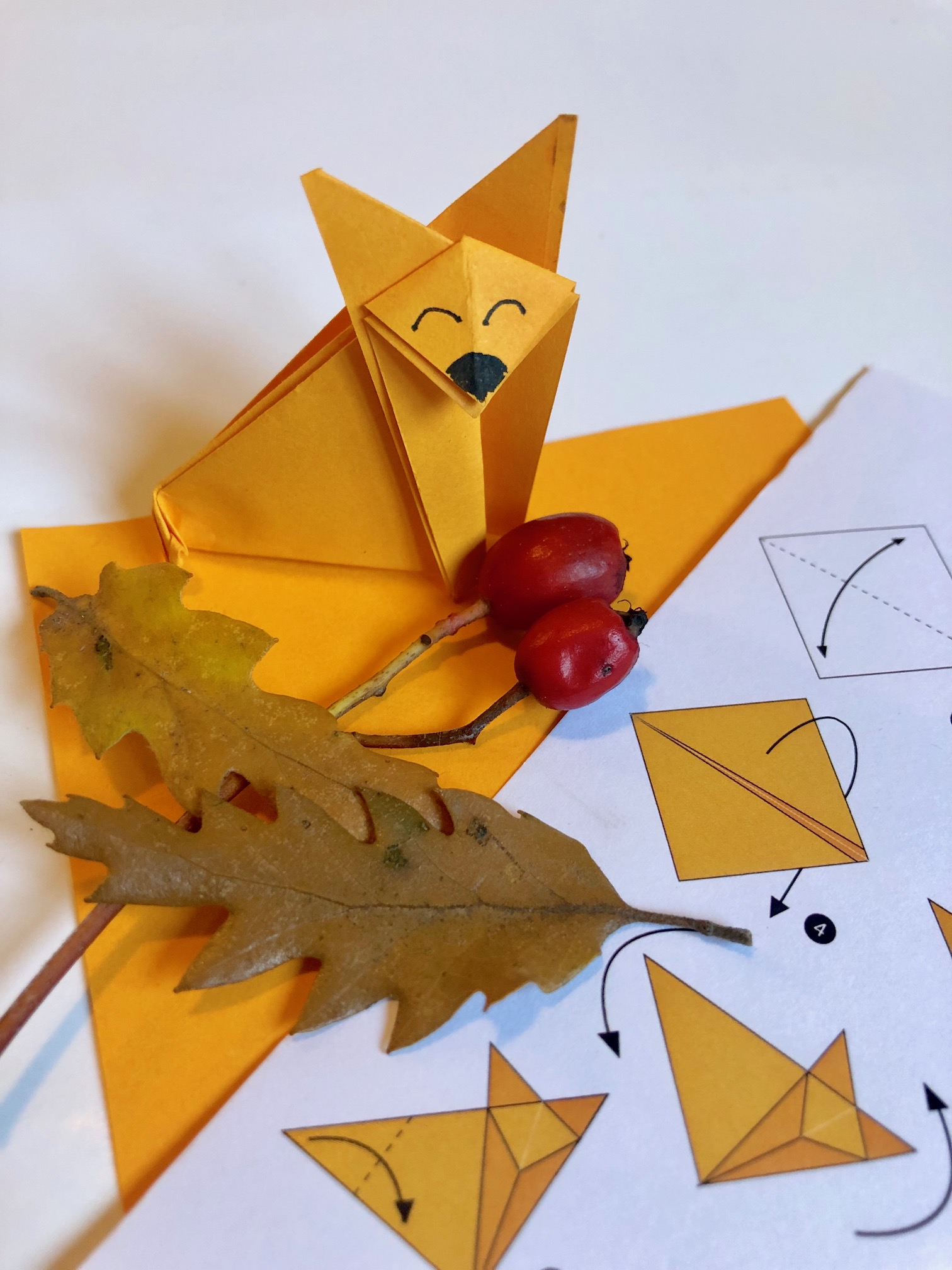 Origami Fox Template with Instruction | Free Printable Papercraft ... | 2016x1512
