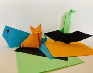 kids origami party bag